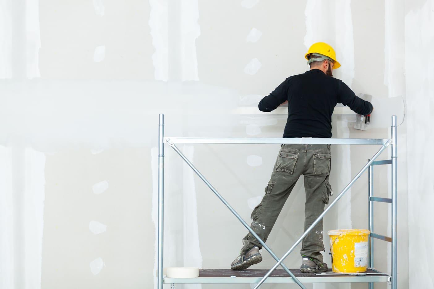 plastering-gypsum-board-wall